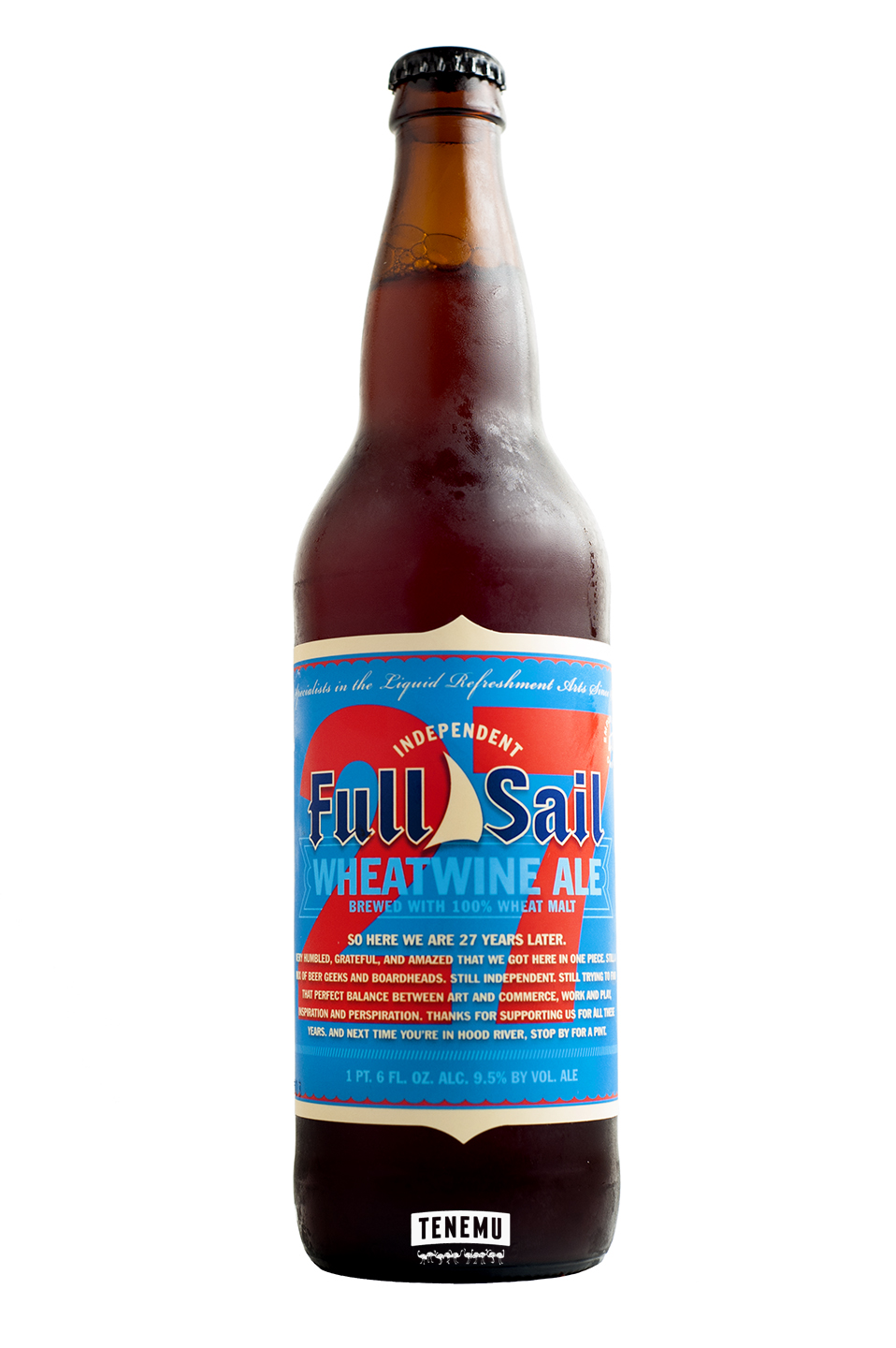 Full Sail 27th Anniversary Wheatwine Ale bottle